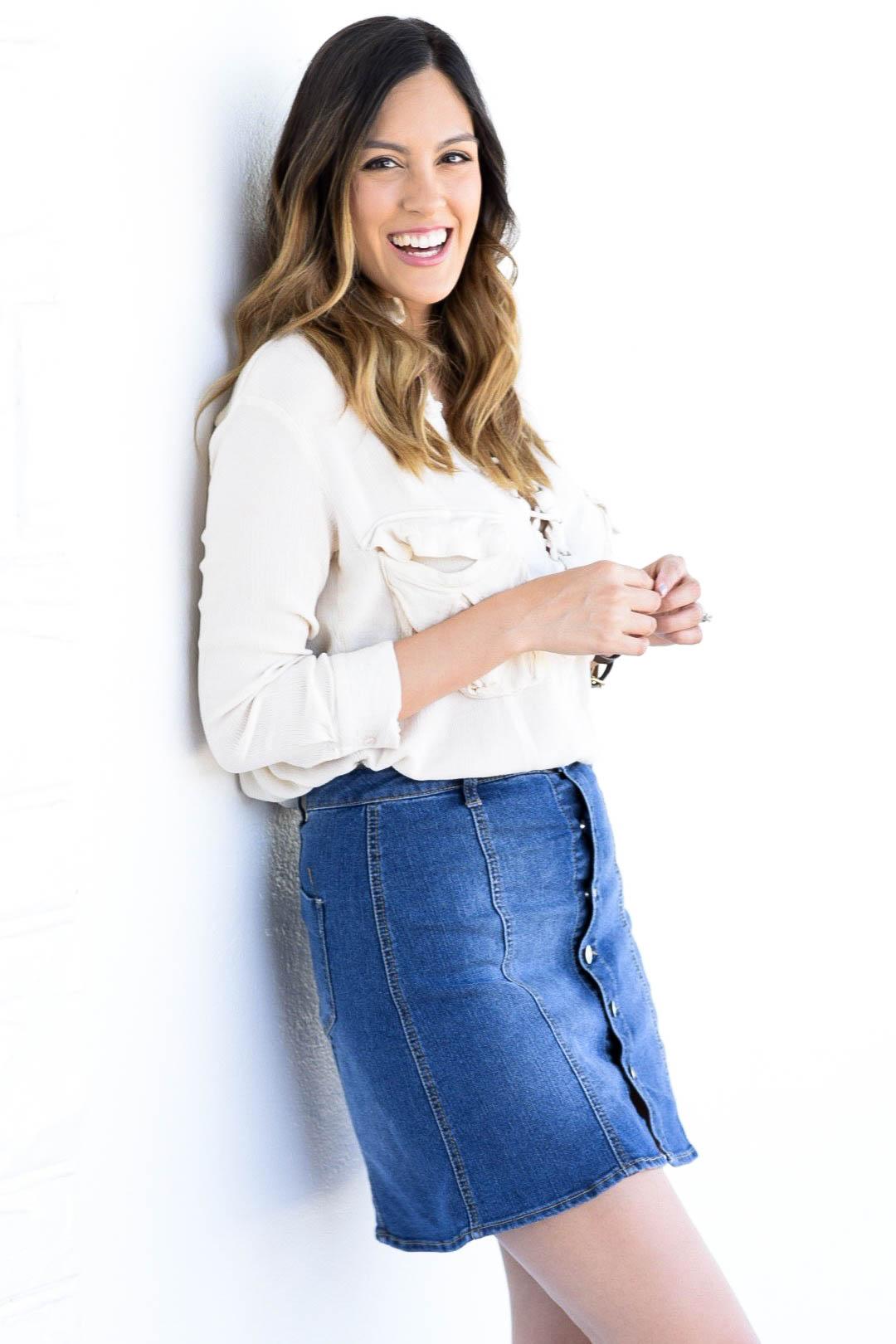 style the girl jean skirt2