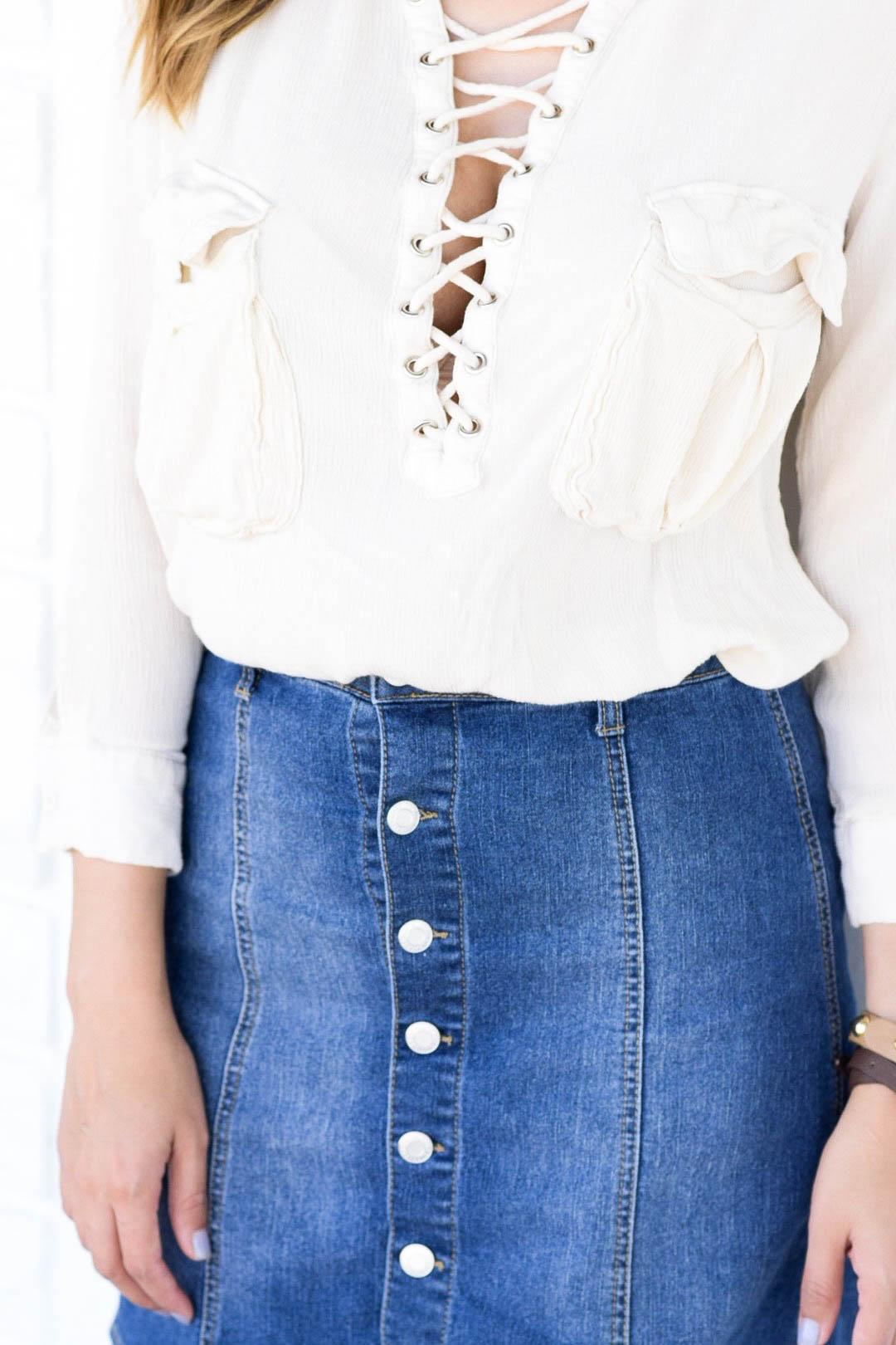style the girl jean skirt5