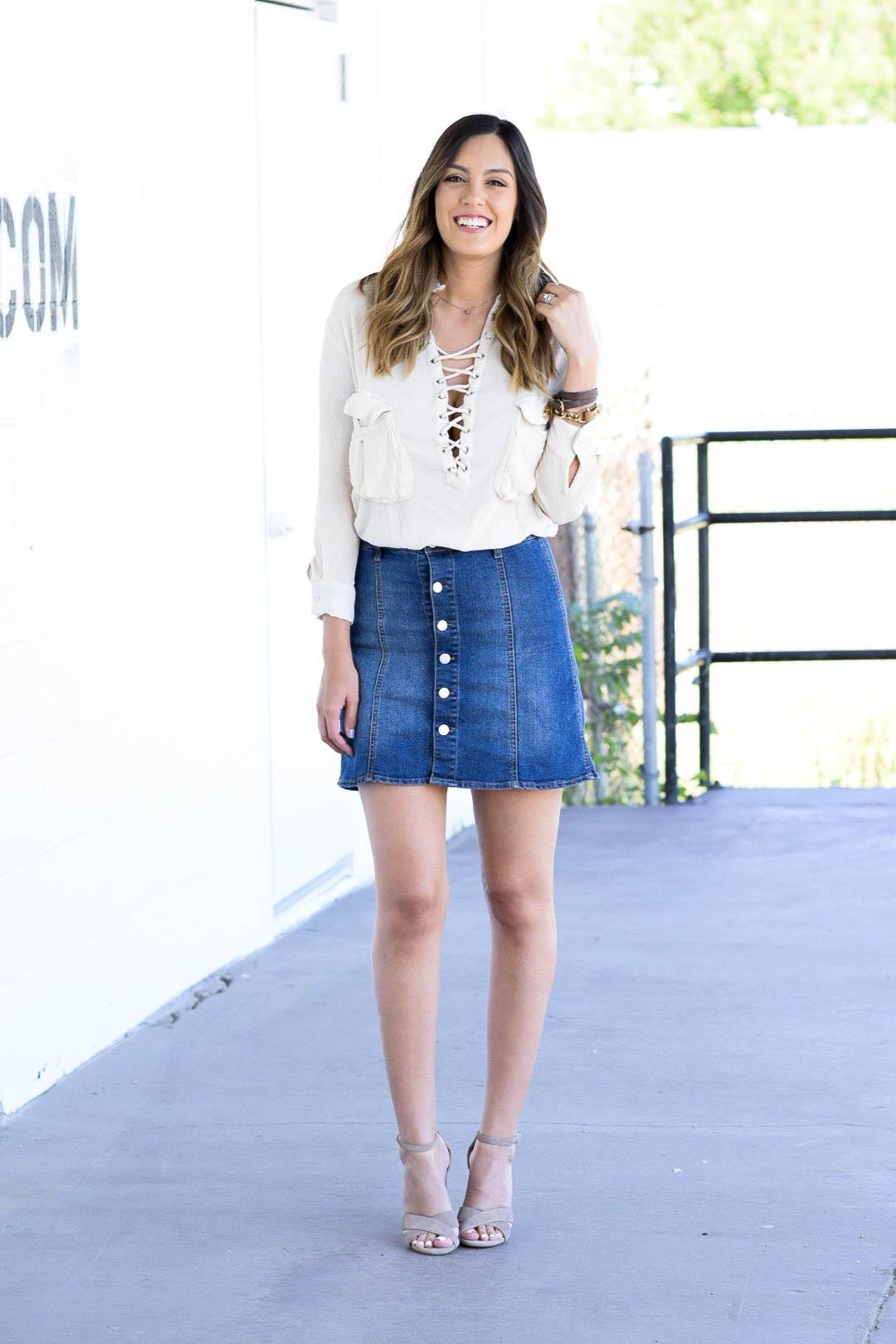 style the girl jean skirt7