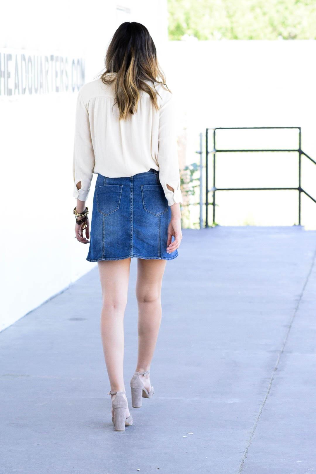 style the girl jean skirt8