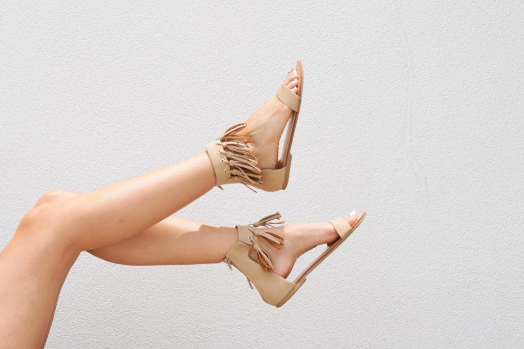 style the girl fringe sandals