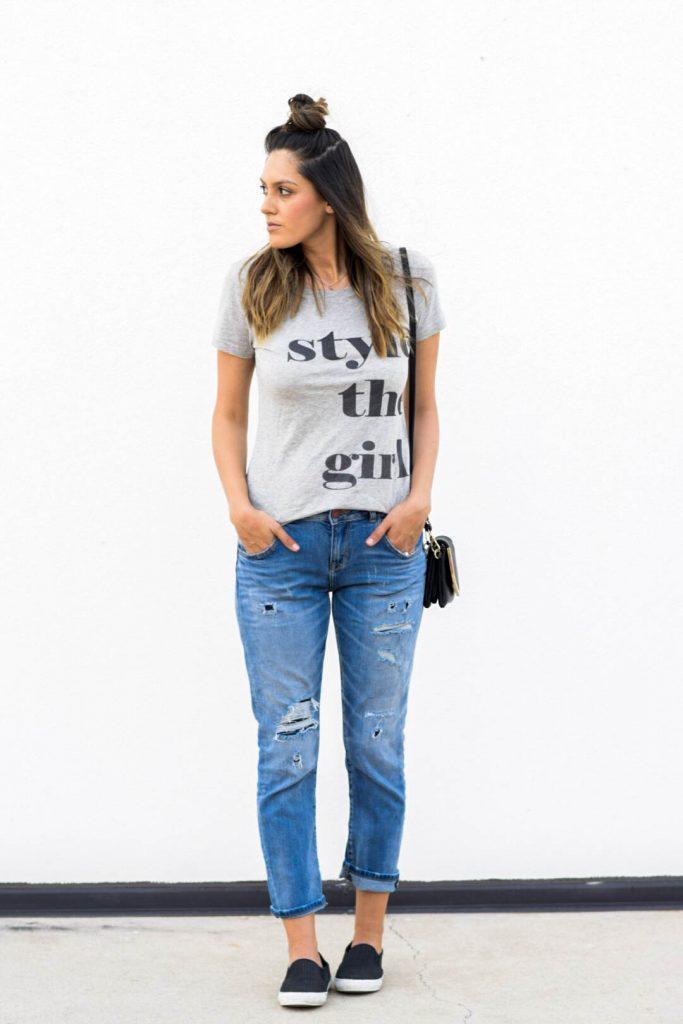 style the girl tee