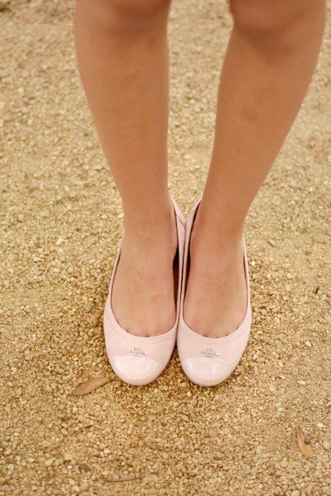 lwd, little white dress, coach flats