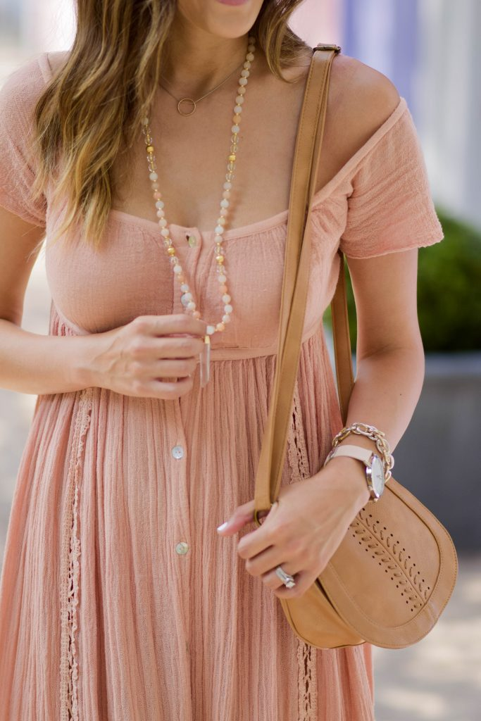 Style The Girl Blush Pink Maxi