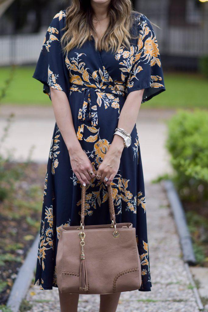shein floral kimono