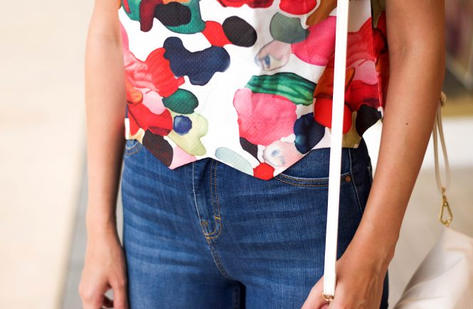 colorful scallop top