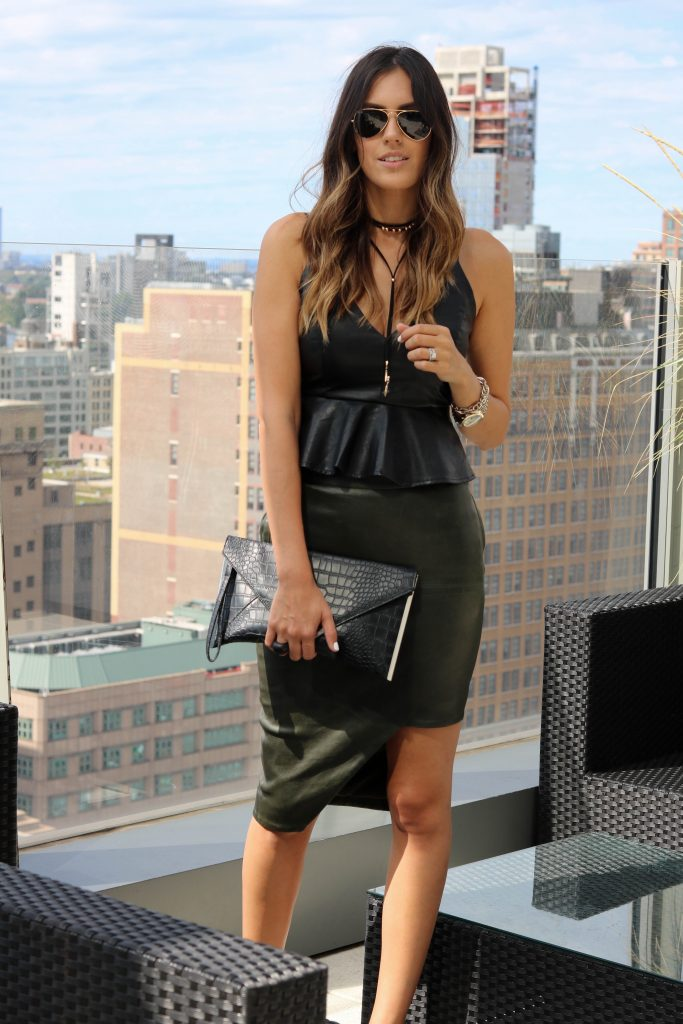 style-the-girl-green-leather-skirt