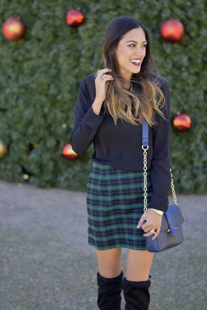 style-the-girl-green-plaid-skirt-6