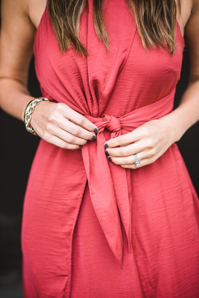 style the girl silk tie up dress