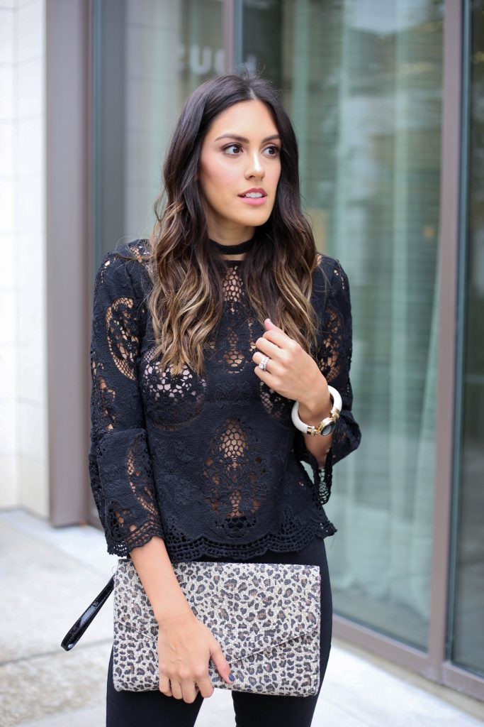 Style The Girl Black See Through Top