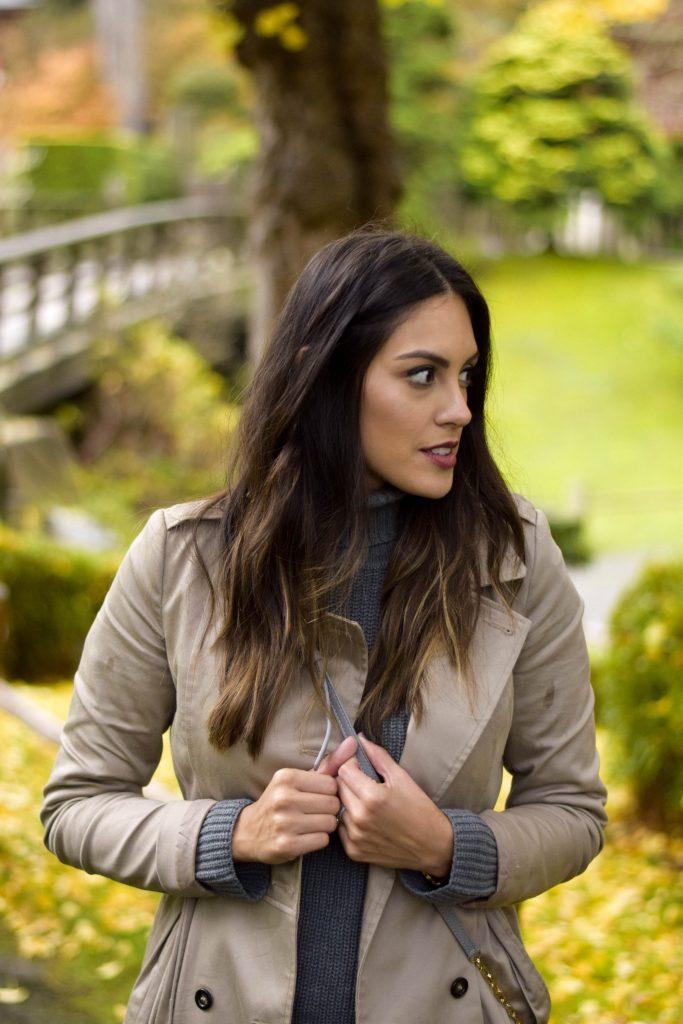 Style The Girl Grey Turtleneck Sweater