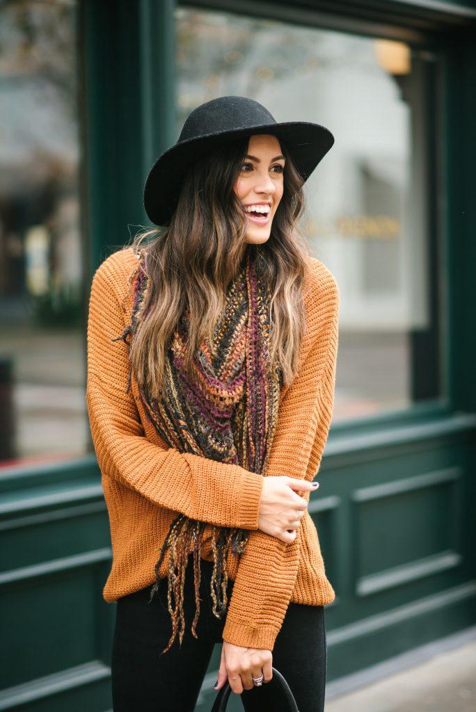 style the girl fringe scarf