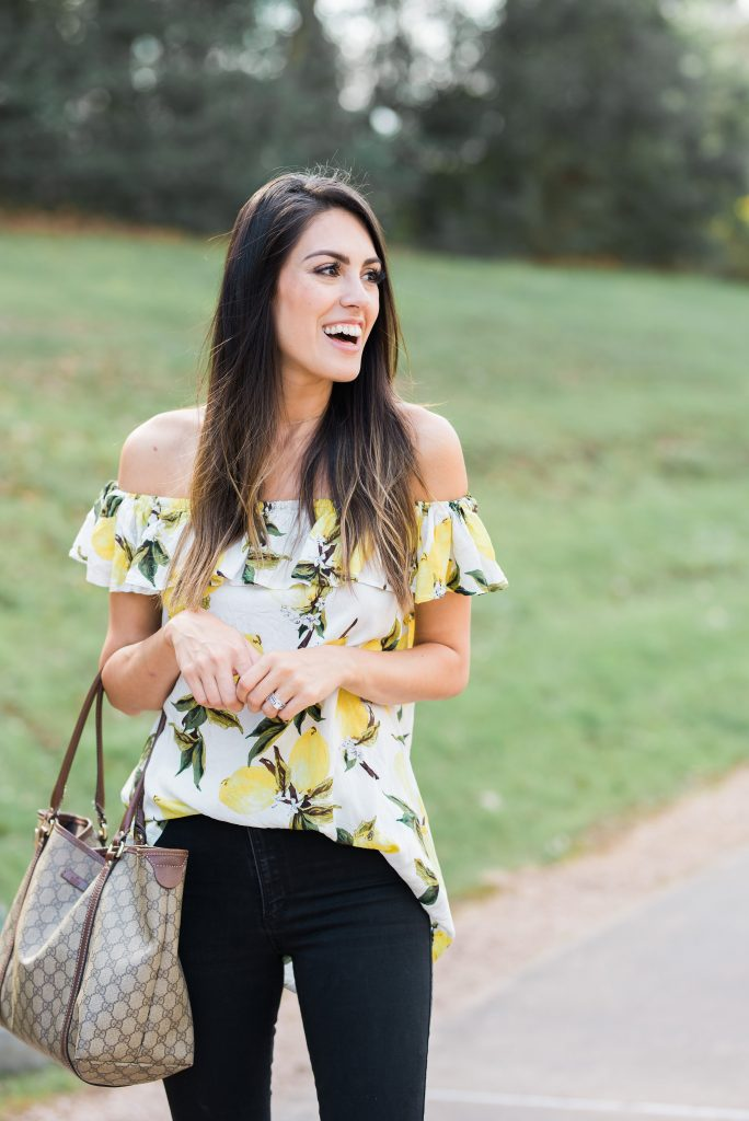 Style The Girl Lemon Print Top