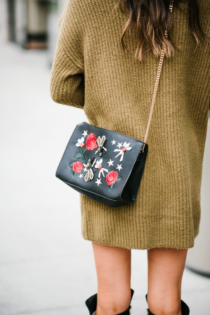 Style The Girl Olive Sweater Dres