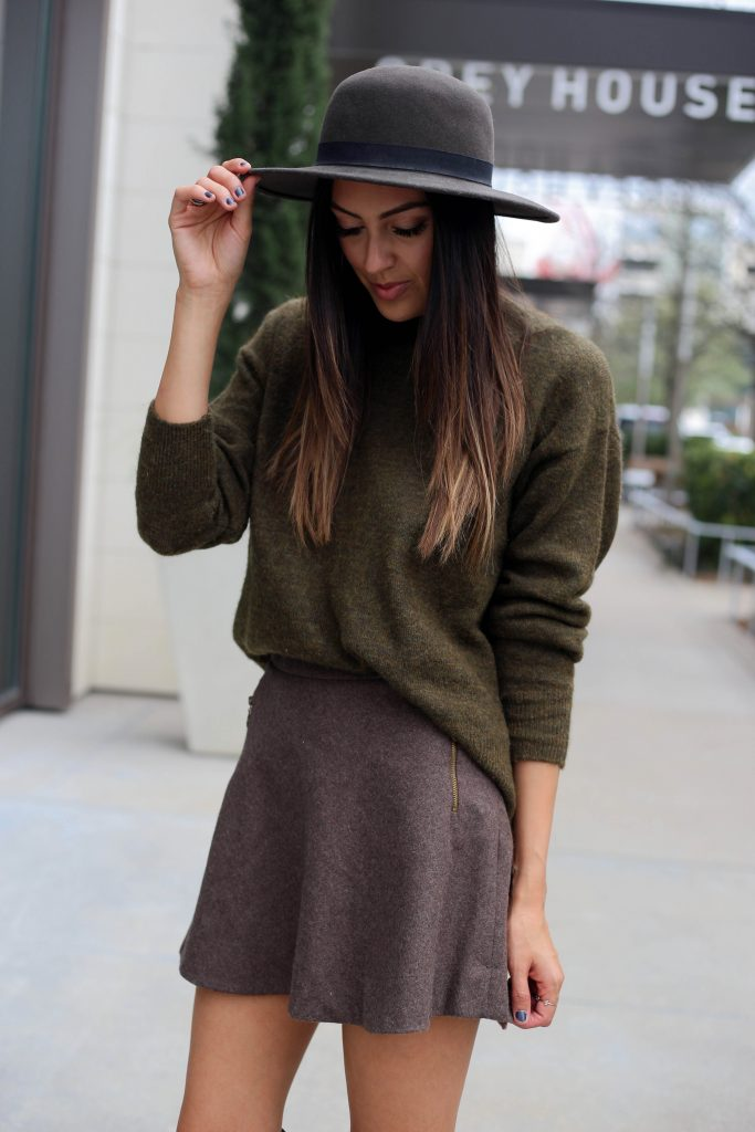 Style The Girl Brown Skirt