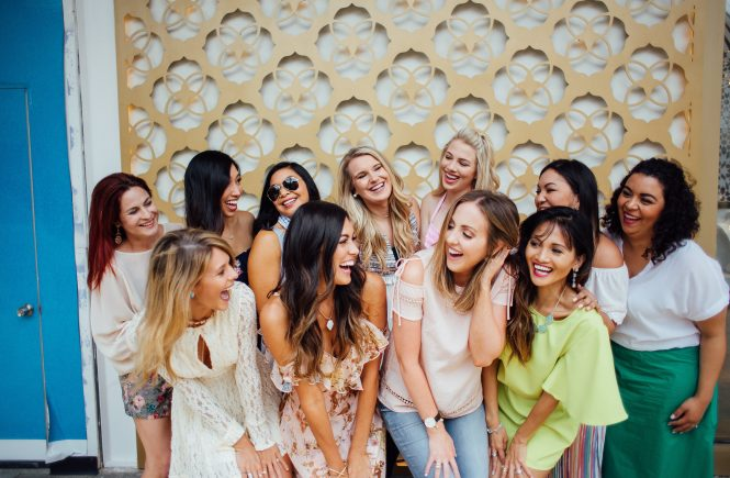 Style The Girl Floral Cold Shoulder Dress and Kendra Scott Event