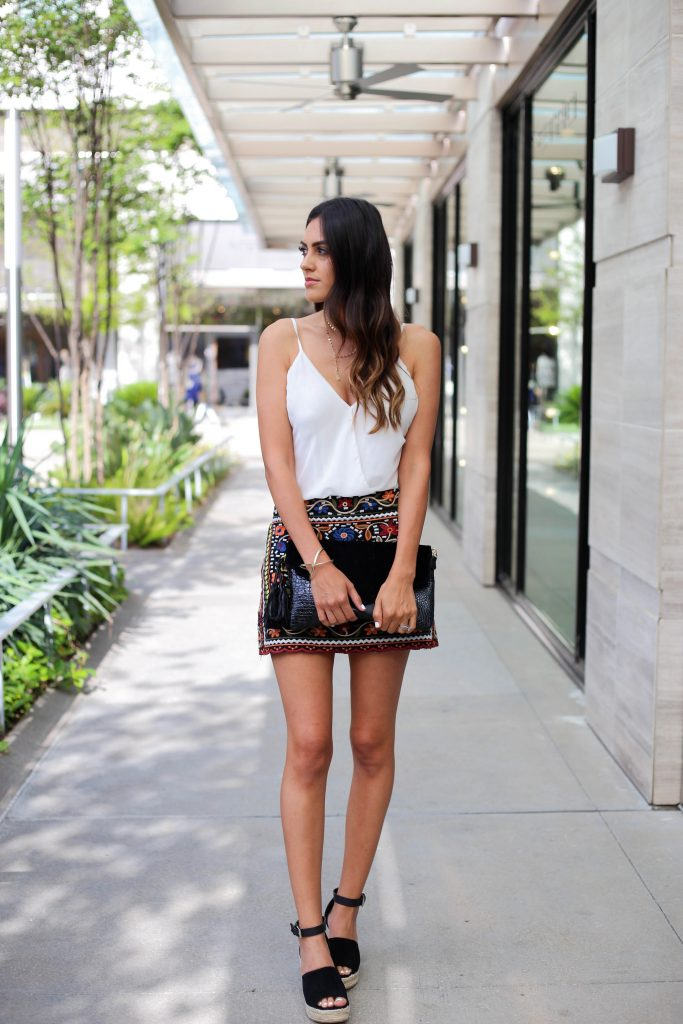 Style The Girl Embroidered Mini Skirt