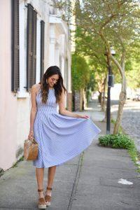 Style The Girl Striped Midi Dress