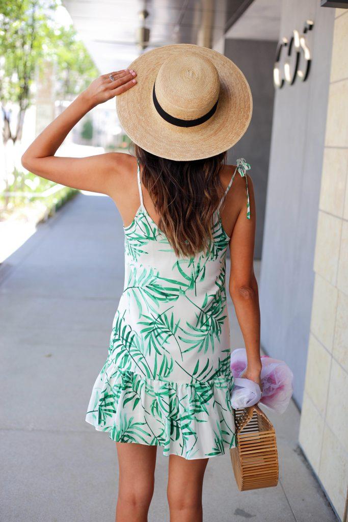 Style The Girl Leaf Print Dress