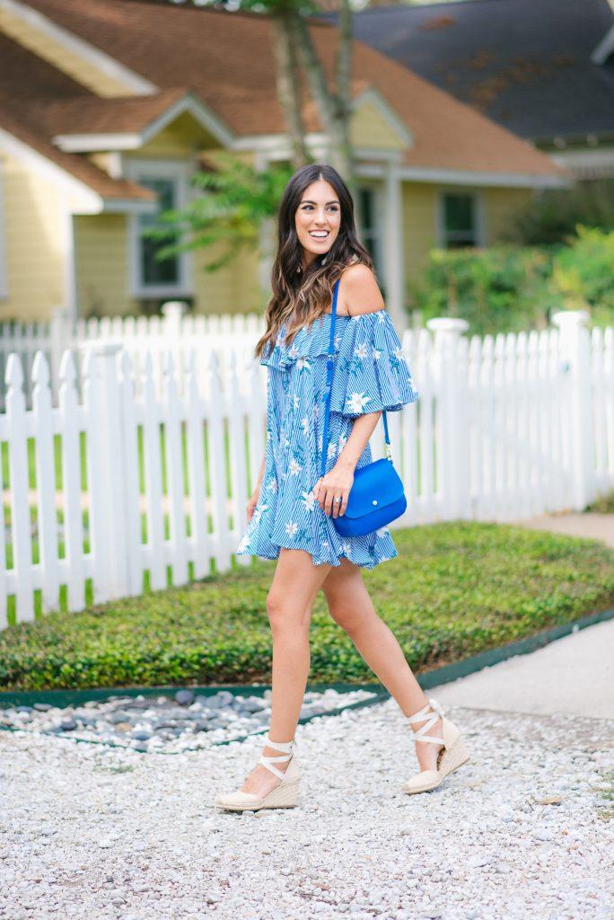Style The Girl Floral Off The Shoulder Dress Under $20