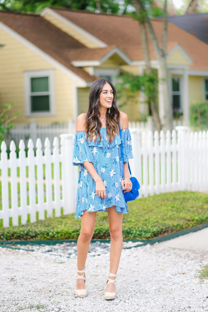 Style The Girl Floral Off The Shoulder Dress Under $20
