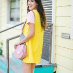 Style The Girl Color Block Mini Dress