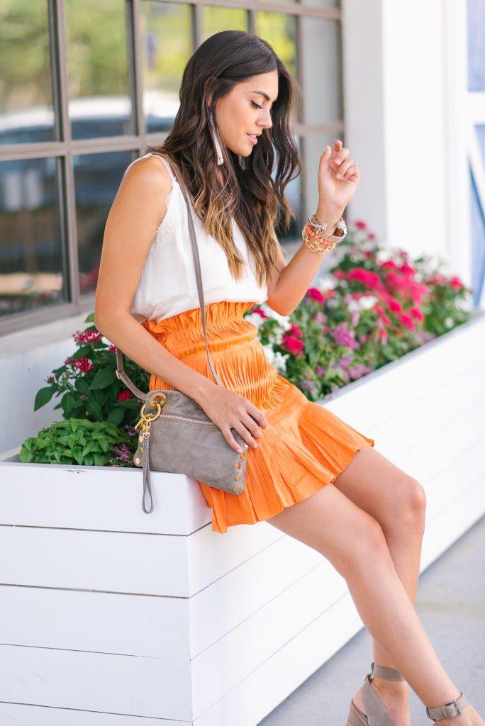 Style The Girl Orange Mini Skirt