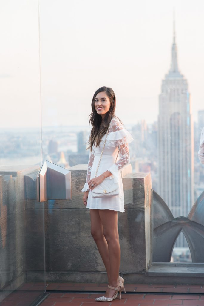 Style The Girl White Lace Dress NYFW