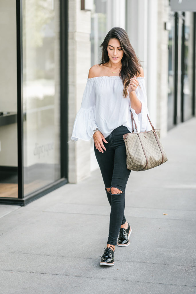 ... Style The Girl Platform Oxford Shoe Outfit for Fall