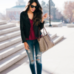 Style The Girl Moto Jacket Look