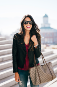 Style The Girl Moto Jacket Look
