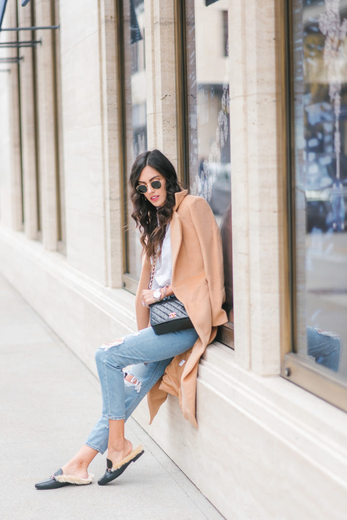 Style The Girl Mom Jeans and Camel Jacket Casual Style