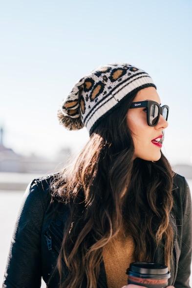 Style The Girl Leopard Beanie