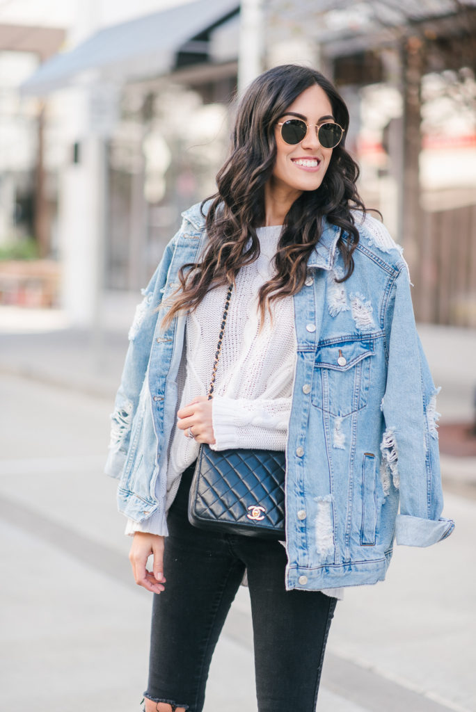 How To Wear The Oversized Denim Jacket Trend - STYLETHEGIRL