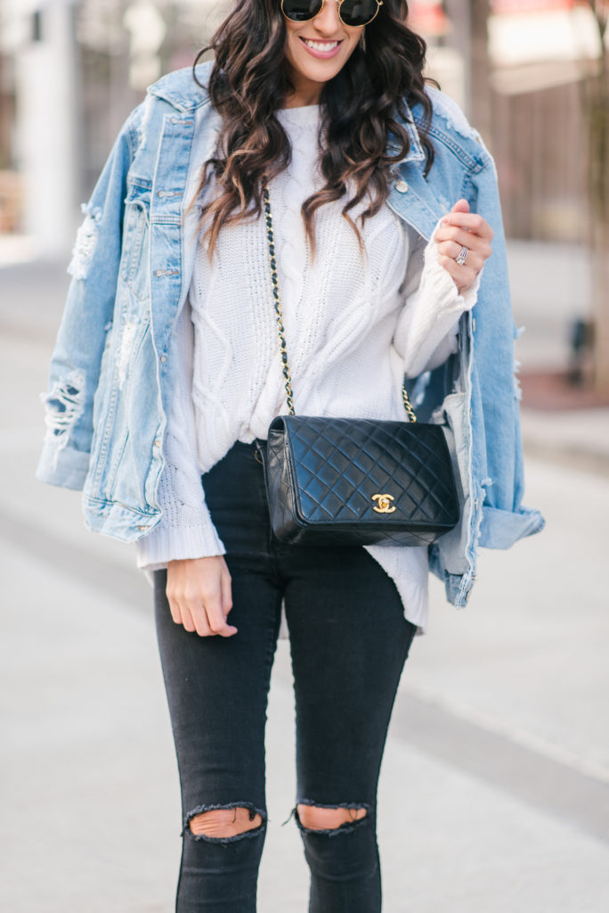 how to wear the oversized denim jacket trend  stylethegirl
