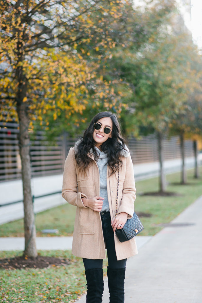 Style The Girl Winter Style With Over the knee boots and faux fur linked jacket