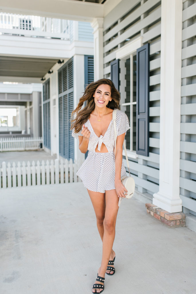Style The Girl Polka Dot Romper Under $50