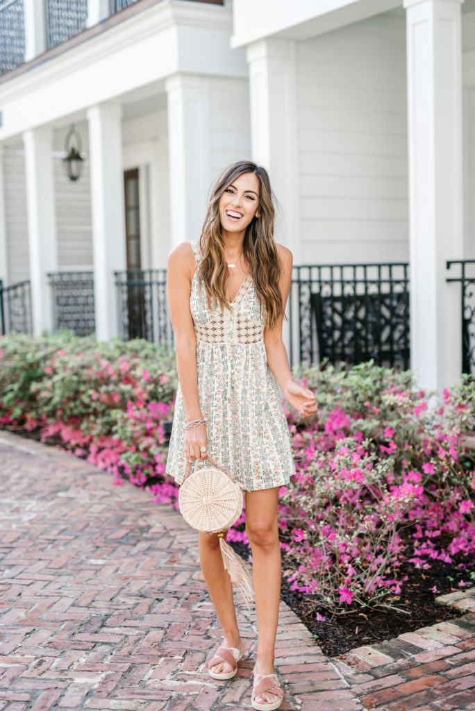 Style The Girl Crochet Floral Mini Dress