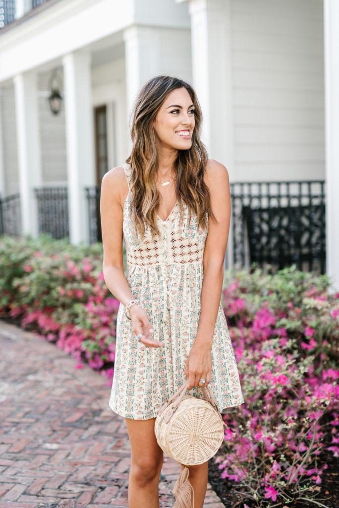 Style The Girl Crochet Floral Mini Dress