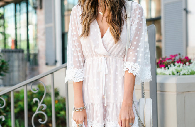 Style The Girl Lace Mesh Mini Dress