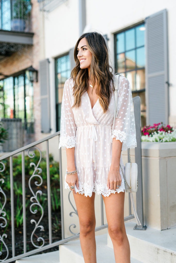 Style The Girl Lace Mesh Mini Dress