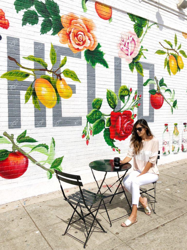 Hello Mural at Carrera Cafe