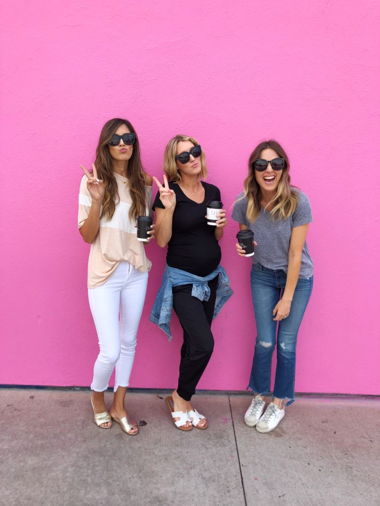 The Pink Wall in LA