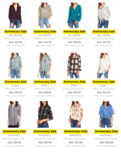 Nordstrom Anniversary Sale 2018 Preview Tops