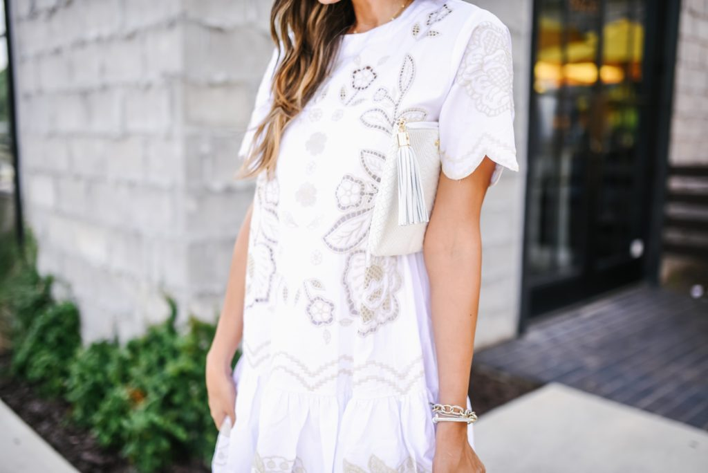 Chicwish So In Love Embroidered Dress