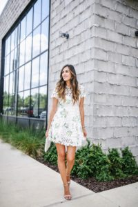 Chicwish Wildflower Fresh Crochet Flare Dress